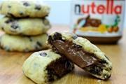 עוגיות שוקולד ציפס ממולאות נוטלה